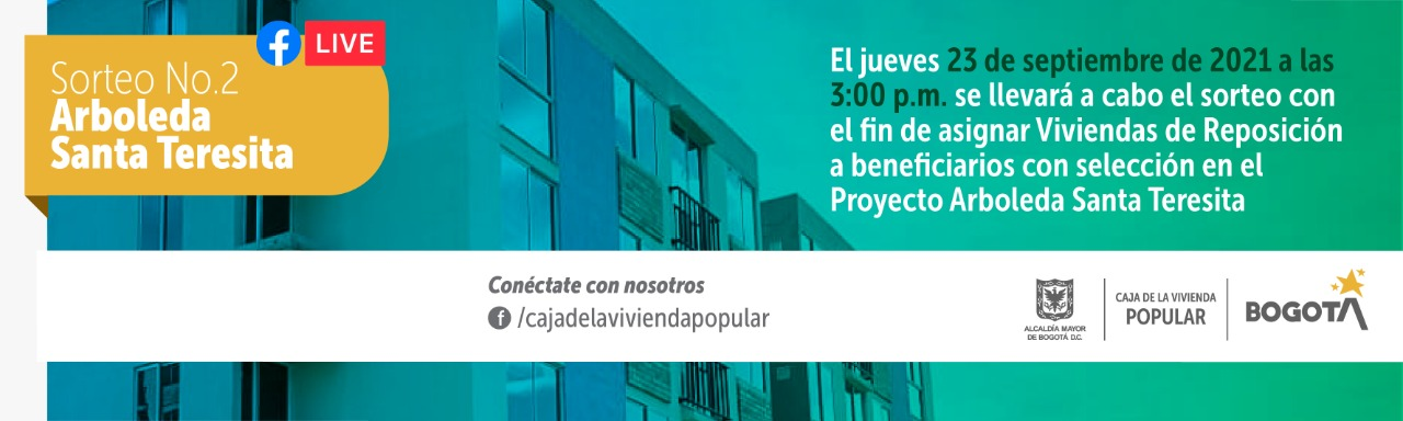 Sorteo No. 02 para asignar viviendas de reposición a beneficiarios con selección proyecto Arboleda Santa Teresita
