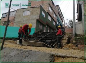 El Distrito viene ejecutando obras de mejoramiento de barrios acompañadas de acciones sociales con la comunidad. Foto; Caja de Vivienda Popular