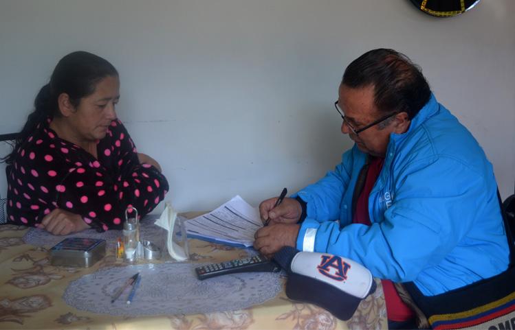 La CVP comprometida con hogares reasentados en Usme